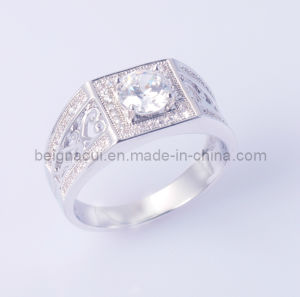 925 Sterling Silver Stone Men Ring pictures & photos