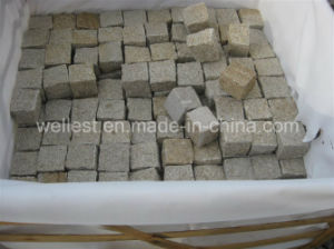 G682 Sunset Yellow Rusty Granite Cube Paving Stone pictures & photos