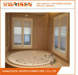 White L Frame Inside Mounted Waterprood PVC Plantation Shutters pictures & photos