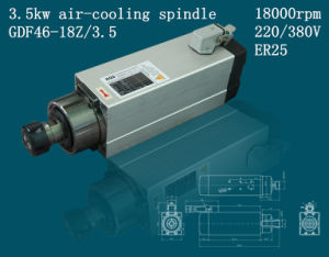 Machine Tool Change Spindle 3.5kw Air-Cooling Spindle pictures & photos