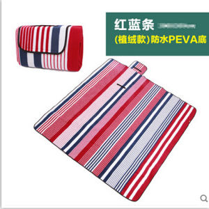 Wholesale Red & Blue Bar Microfiber PEVA Pincnic Blanket pictures & photos