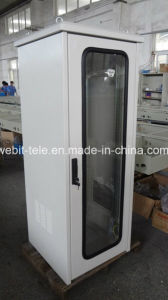 Grey Color Glass Door IP55 Telecom Rack pictures & photos