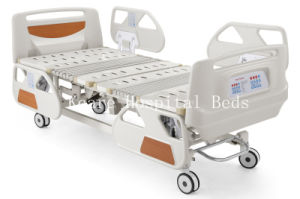 ICU Used Deluxe 5 Functions Electric Hospital Beds with CPR Function pictures & photos