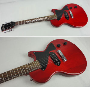 Wholesale Junior Top Solid Mahogany Body Lp Style Electric Guitar pictures & photos