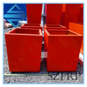 Rectangular GRP Fiberglass Garden Flower Planters Pots Box Wholesale pictures & photos