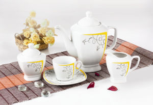 17PCS Square Tea Set with Decal (9930) pictures & photos