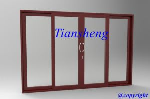 Aluminum Heavy Duty Sliding Door with Double Glazing pictures & photos