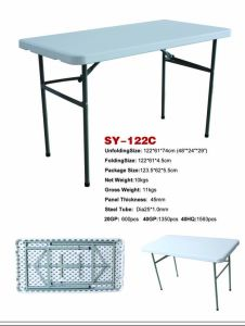 4ft Plastic Folding Outdoor Camping Garden Table pictures & photos