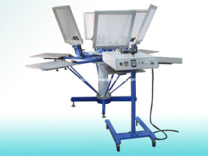 6 Color 6 Station Silk Screen Printing Press pictures & photos