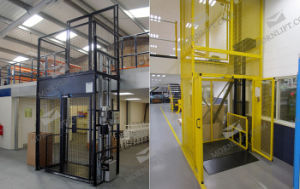 Cargo Lift with Fully Mesh Enclosure pictures & photos