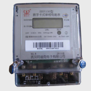 Smart Card Prepaid Energy Electricity Meter with Alternating Current pictures & photos