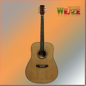 "41""High Level Spruce Sapele Plywood Acoustic Guitar pictures & photos"
