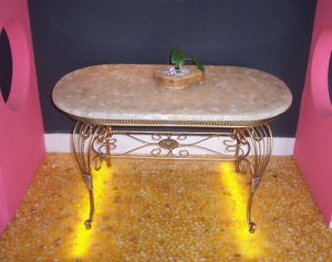 Rest Table Top Panel Cobble Stone Panel/ River Stone Panel pictures & photos