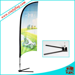 Polyester Feather Flags with Wheel Base pictures & photos