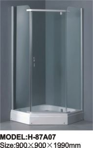 Simple Shower Room Tempered Glass Shower Screen pictures & photos