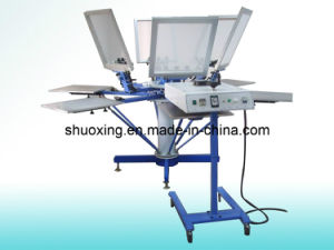 Manual Rotary Silk Screen Printing Machine (SP-6C6SM) pictures & photos