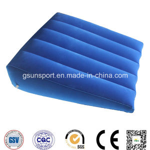 Inflatable Foldable Triangle Backrest Pillow Wedge Back Pillow Foot Rest