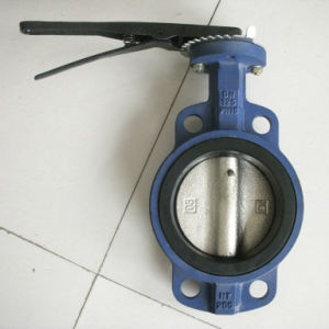 Handle Operate Wafer Butterfly Valve with EPDM Sealing pictures & photos