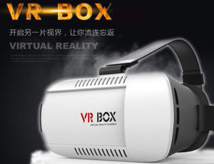 Vr Box Virtual Reality 3D Glasses with Blue Handle pictures & photos