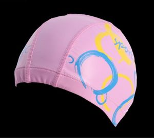 Cheap Price Good Quality Adult Size Lycra Swim Cap with PU Coat Swim Hat pictures & photos
