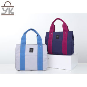 Big Capacity Fashion Contrast Color Women Canvas Handbag pictures & photos