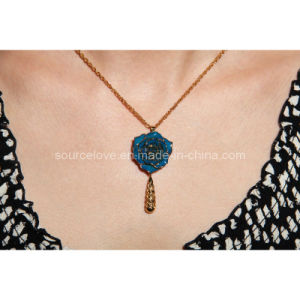 Holiday Gift-24k Gold Rose Necklace