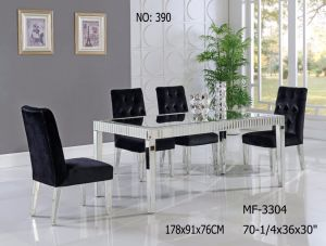 2017 Simple Style Dining Table with Clear Mirror pictures & photos
