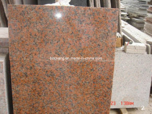 Maple Red Granite for Tile Slab Cubes pictures & photos