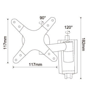 "Swivel & Tilt LCD Wall Mount Bracket for 13""-27"" pictures & photos"