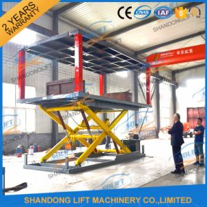 Cheap Double Level Scissor Used Car Lifts for Sale pictures & photos