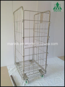 Riqian Shopping Trolley with Castors for Retail Industry & Warehouse pictures & photos