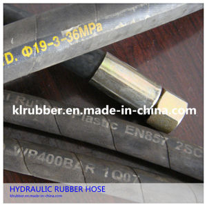 SAE100 R2at High Pressure Rubber Hydraulic Hose with Hydraulic Fitting pictures & photos