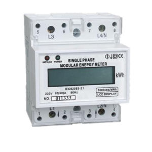 Good Quality Anti-Rusty Single Phase Digital DIN Rail Meter pictures & photos