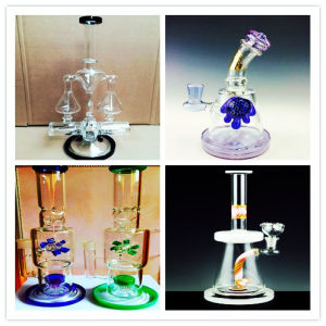 Handblown Borosilicate High Quality Straight Tube Percolator Tall Color Bowl Glass Craft Ashtray Inventory for Glass Water Pipe pictures & photos