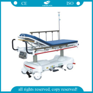 AG-Hs006 Luxurious Hydraulic Rise-and-Fall Stretcher Cart with Weight System pictures & photos