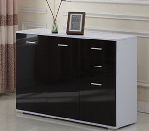 High Gloss 2 Door+3 Drawers Side Cabinet Storage pictures & photos