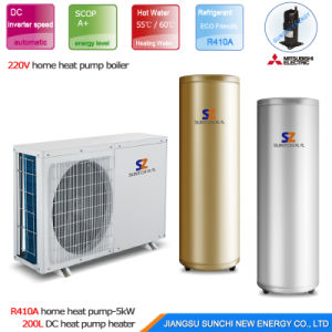 Extramely -25c Winter Dhw Shower Using 15kw/20kw/25kw Evi Tech. Brine Water Source DC Inverter Geothermal Heat Pump 10kw pictures & photos