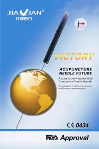 Victory Acupuncture Needles with Conductive Plastic Handle pictures & photos