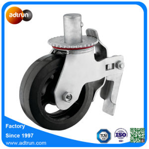 Heavy Duty Rubber Steel Wheel Casters with Roller Bearing pictures & photos