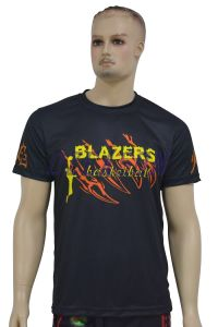 Manufacturer Custom 100% Polyester Sublimated Sports T-Shirt (T014) pictures & photos