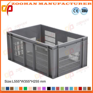 Ventilated Plastic Basket Tray Euro Containers with Hand Holes (Zhtb5) pictures & photos