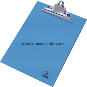 Blue Clip Board Plastic ESD Clip Board for Cleanroom pictures & photos