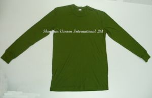 Winter Underwear Suit Thermal in Oliva Green with Simple Classic Design pictures & photos
