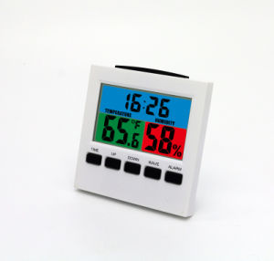 Color Display Weather Station Clock with Max/Min Temp&Humidity pictures & photos