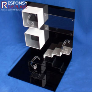Luxury and Splendid Acrylic Customized Black Counter Top Watch Display Units pictures & photos