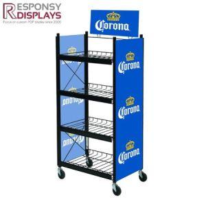 Custom Size Metal Wire Promotional Frozen Taste Beer Display pictures & photos