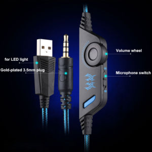 3.5mm Wired Headphone Gaming Headset with LED Mic pictures & photos