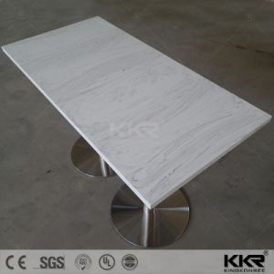 Modern Solid Surface Marble Stone Dining Table White (T1708161) pictures & photos