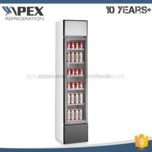 Glass Door Slim Line Cooler for Cola pictures & photos