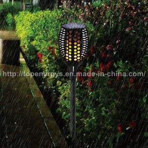 96LEDs Hand-Held Solar Powered LED Flame Torch pictures & photos